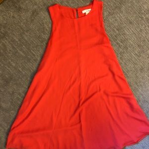 Brightly colored shift dress